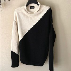 ZARA Oversized color block sweater size M
